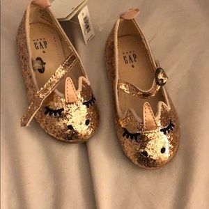 Brand new rose gold glitter unicorn toddler shoes
